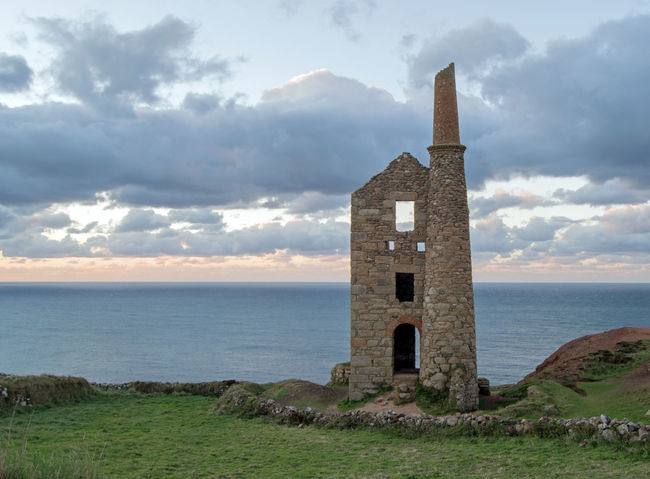 Wheal Owles, location for Wheal Leisure in the Poldark TV series, Botallack, Cornwall UK Cloud - Sky Sky Sea Water Architecture Built Structure Nature History Building Exterior Building The Past Horizon Over Water Outdoors Wheal Owles Poldark Poldarkcountry Poldark Location Poldark Country Tin Mine Tin Mines Cornwall Chimney Engine House Abandoned Abandoned Places Cornwall