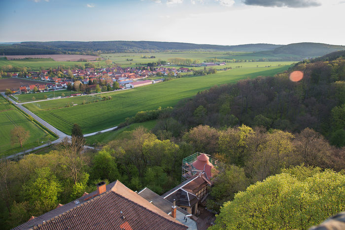 OverviewPoint Thuringen Agriculture Beauty In Nature Building Exterior Built Structure Day Field Growth High Angle View House Landscape Mountain Nature No People Outdoors Overview Rural Scene Scenics Sky Tranquil Scene Tranquility Tree Village Village Life