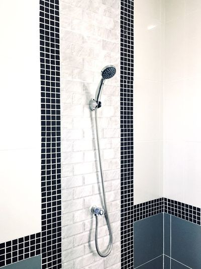 bathroom No People Built Structure Indoors  Metal Architecture Wall - Building Feature String Instrument Day Pattern Tile Safety Directly Above Close-up Flooring Wall