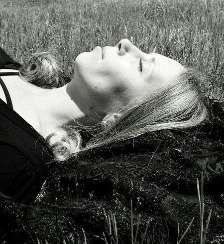 Portrait Of A Friend Enjoying The Sun Taking A Nap Ahhh In The Grass Pretty Girl