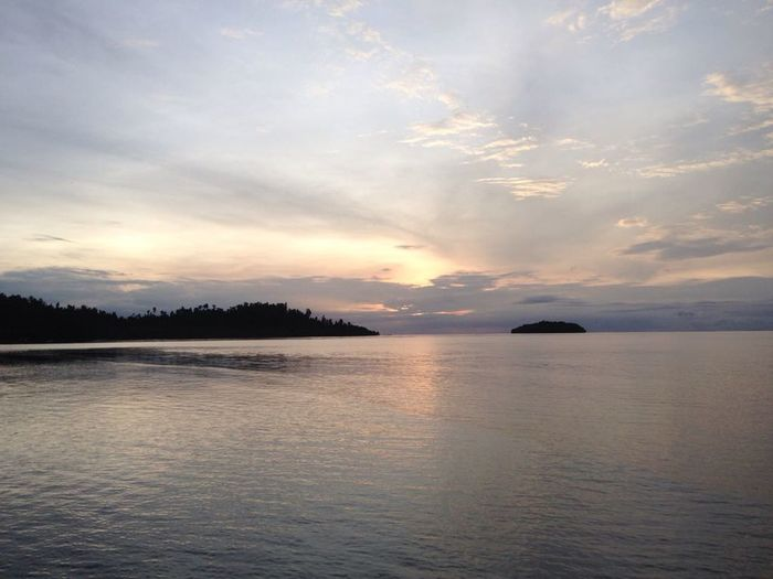 Sun rise at Raja Ampat Landscape Scenics