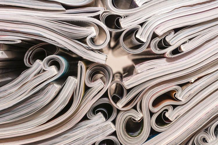 Full frame shot of paper stack