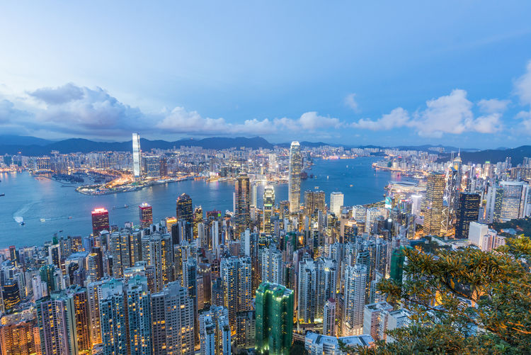 HongKong Aerial View Architecture Building Exterior Built Structure City City Life Cityscape Cloud - Sky Crowded Day Development Downtown District Financial District  Growth High Angle View Modern Mountain Outdoors Sky Skyscraper Tall Tower Travel Destinations Urban Skyline