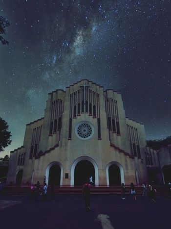 Religion Night Architecture Arch Star - Space Façade People History Built Structure Spirituality Constellation Arts Culture And Entertainment Dome Astronomy Large Group Of People Milky Way Galaxy Adult Adults Only Sky