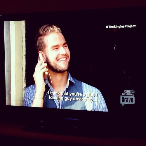 it's Tuesday night... glued to @bravotv watching this handsome man xo TheSinglesProject BravoTV Joeyhealy Joeyhealybrows cutestcowboy @joeyhealybrows