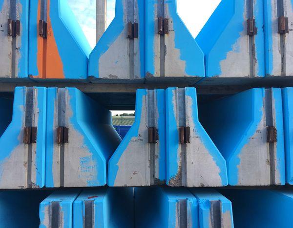 Blue Day Full Frame No People Built Structure Outdoors Close-up Architecture Industrial Industrial Photography Concrete Concrete Jungle Concrete Blocks Concrete Slabs