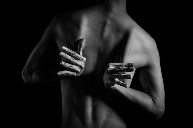 break the mold Adult Adults Only Black Background Blackandwhite Break The Mold Close-up Day Fine Art Photography Freedom Holding Human Body Part Human Hand Inner Peace Love Men Midsection One Person Passion People Real People Shirtless Studio Shot Young Adult EyeEmNewHere EyeEmNewHere
