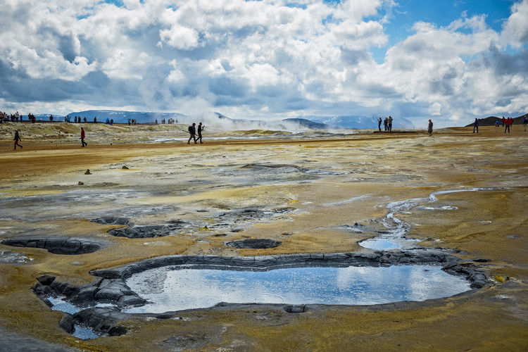 Iceland Nature Pond Sky And Clouds Beauty In Nature Beauty In Nature Day Environment Geyser Landscape Nature Nature_collection Outdoors Power In Nature Scenics - Nature Termal Pool