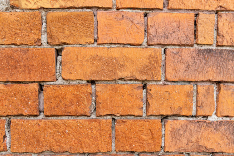 brick wall Brick Brick Wall Backgrounds Wall - Building Feature Architecture Wall Textured  Built Structure No People Full Frame In A Row Pattern Close-up Red Orange Color Construction Material Outdoors Brown Dirt City