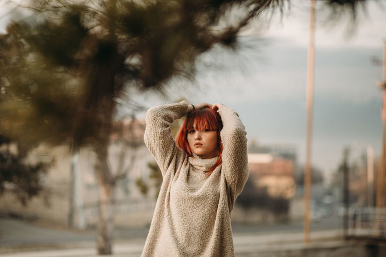 Child Childhood One Person Focus On Foreground Waist Up Offspring Day Standing Innocence Clothing Warm Clothing Real People Portrait Casual Clothing Tree Lifestyles Outdoors Winter Hood - Clothing
