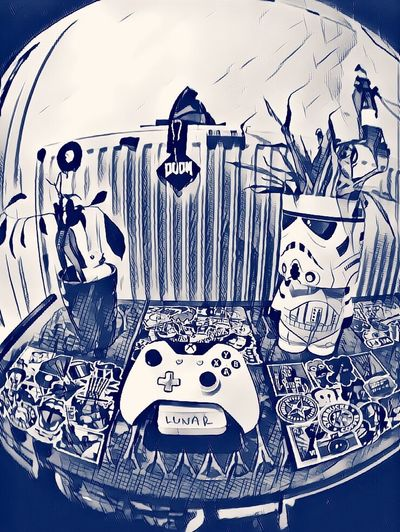 Xbox One Xbox Controller Lunar Security Nature And Stormtrooper Stormtrooper Starwars Bonsai Tree
