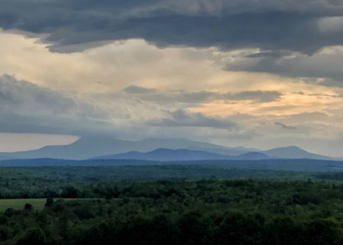 Mount Katahdin in Maine on a cloudy day. Mount Katahdin Maine Mountain Appalachian Trail Scenics Cloud - Sky Nature Sky Outdoors Rural Scene Landscape Dramatic Sky Horizontal