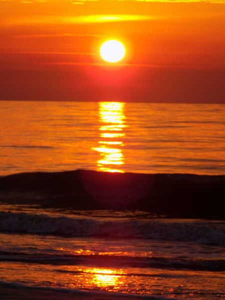 Sunset Orange Color Sun Beauty In Nature Sea Scenics Nature Reflection Water No People Outdoors Cloud - Sky Sky Red Tranquility Dramatic Sky Awe