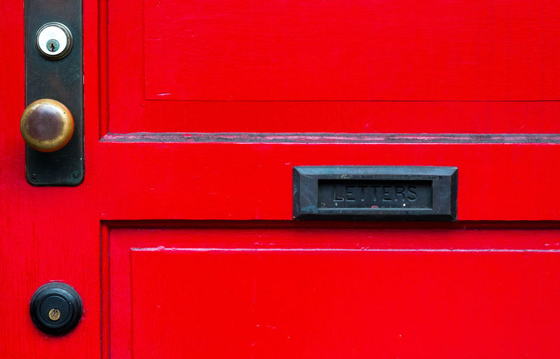 Letters here Close-up Correspondence Door Lock Mail Mailbox Metal No People Outdoors Public Mailbox Red Safety Security Vibrant Color