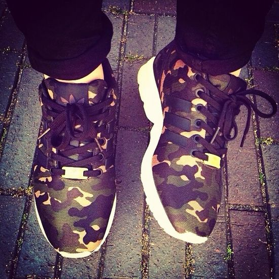 "My favorite pair of Sneakers! Adidas ZX Flux ""Camo"". ♡ it! Sneaker Addict  Adidas Zx Flux Army Print"