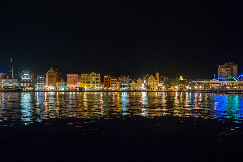 Skyline Skyline At Night Travel Architecture Building Building Exterior Built Structure City Clear Sky Copy Space Curacao Curacao Nights Illuminated Nature Night No People Outdoors Reflection River Sky Summer Travel Travel Destinations Water Waterfront