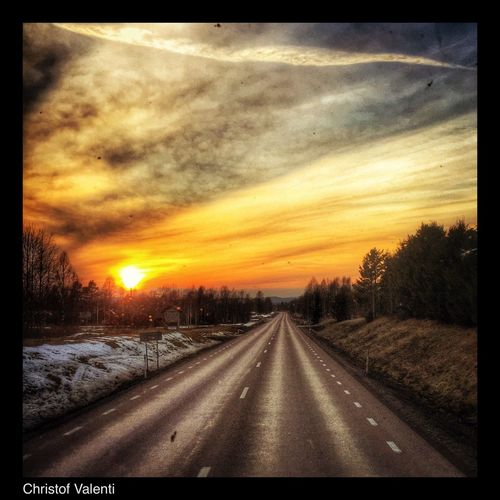 Pictureoftheday Eye Em Around The World On The Road Work Sweden Streamzoofamily North Trucking Sunrise_sunsets_aroundworld Sun_collection Travelling