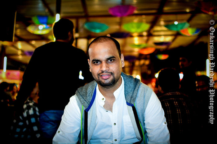Portrait of Mahendra Portrait Photography portrait of a friend Nightphotography Party Party Time Nikon Nikkor 35mm Smile Happy Happiness Lovely depth of field Bookeh India People Focus On Foreground Indoors  Nightlife One Man Only Arts Culture And Entertainment One Person Illuminated Night