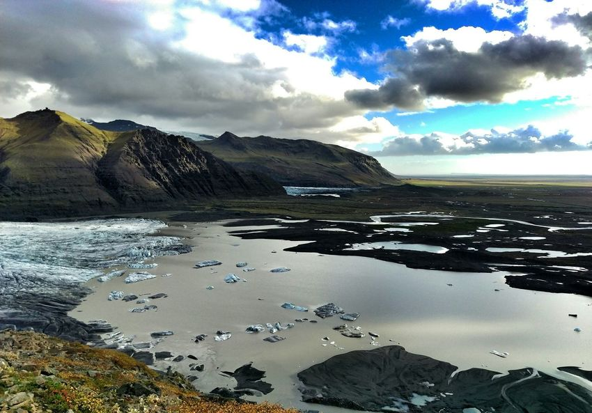 Skaftafellsjökull Glacier Glacier Lake Landscape Iceland Landscapes With WhiteWall Ice Age