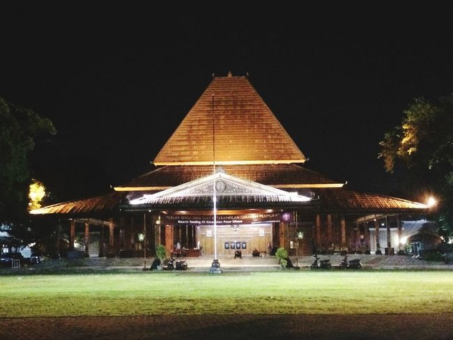 Solo INDONESIA Exploresolo Solo Illuminated Night Architecture Built Structure Tree Plant Sky Building Exterior Nature No People Lighting Equipment Land Clear Sky Religion Belief Place Of Worship Spirituality Grass Building Outdoors