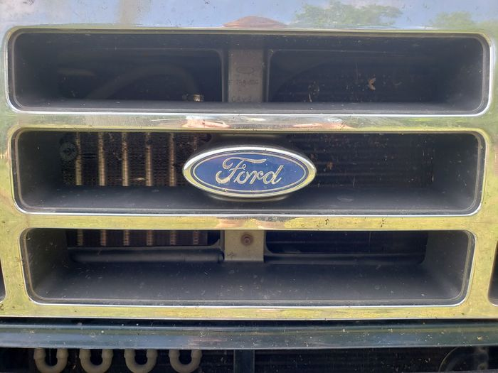 Ford Seen A Lot Ford Truck Ford Company Emblem  Truck Grill Chrome Farm Truck Built Touch Technology Metal Close-up