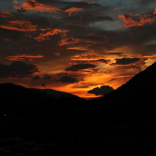 Sunset Cloud - Sky Beauty In Nature Mountain Dramatic Sky Sunlight Sky Landscape Enjoying The Sun Sky_collection Profound Rose Sky  Silhouette Poetryinphotography