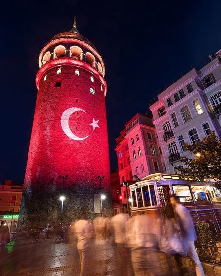 Galata Tower, Istanbul, Turkey Galata Galata Tower Istanbul Turkey Night Nikon D810