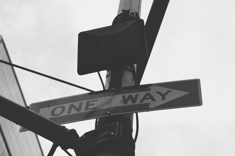 Low Angle View Communication Road Sign Guidance Sky Day No People Outdoors Text Close-up City EyeEm Gallery