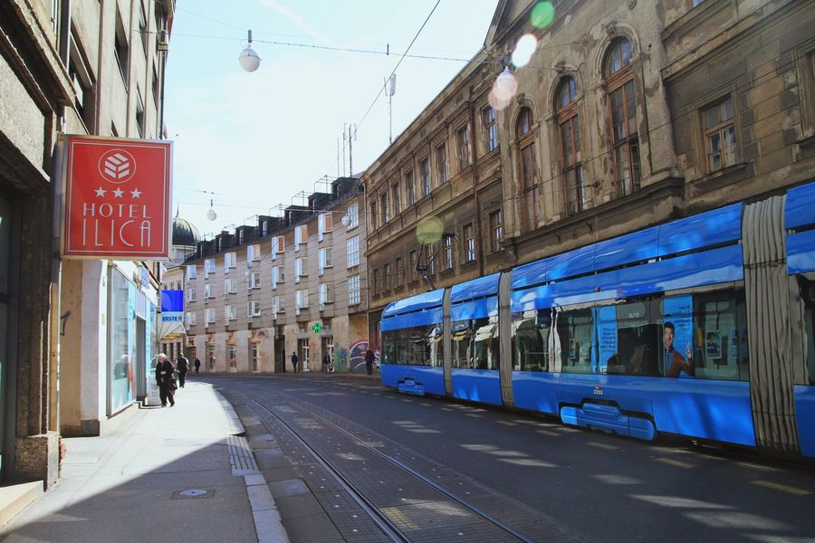 Walking on the streets of Zagreb Traveling Blue Cityscapes The Minimals (less Edit Juxt Photography) Eye4photography