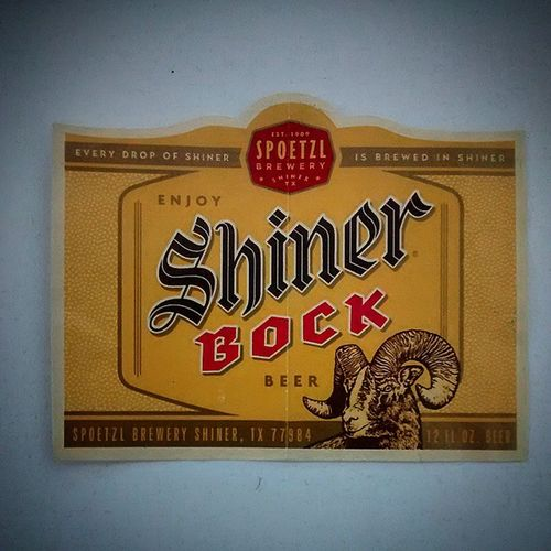 Shinerbock Beer Shinertexas