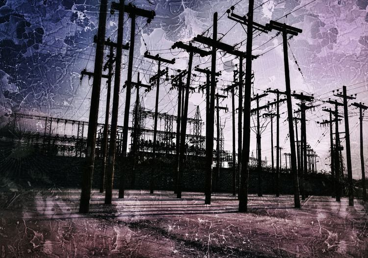 No People Outdoors Low Angle View Power Lines Electricity Pylon Electricity  Electric Pole