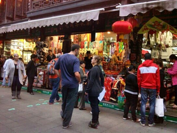 Tourism Road Yu Yuan Garden Shanghai, China Street Photography Traveling