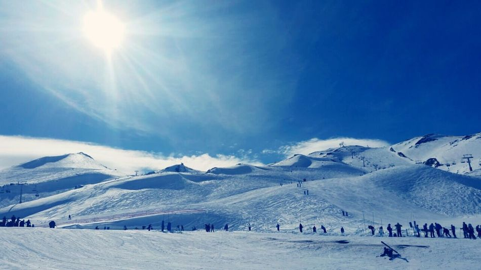 Vale nevado - Santiago , Chile. First Eyeem Photo Chile ValeNevado Icelight Natural Light Ice Skating Skiing 🎿 Wintersports