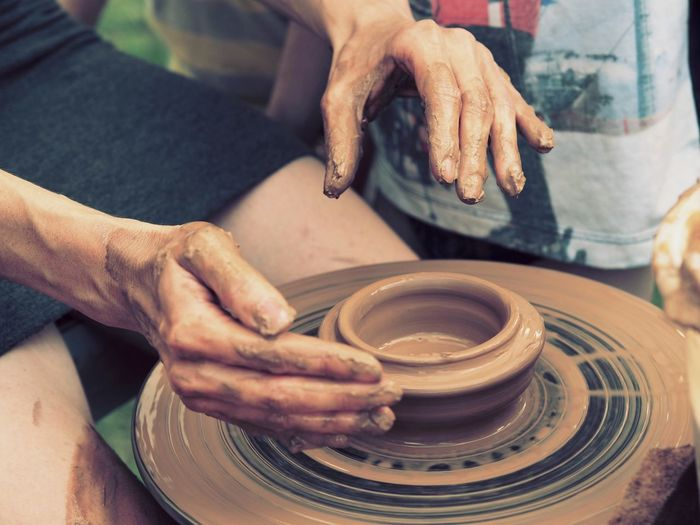 Clay Clay Work People Work Hands Two Is Better Than One Belarus Olympus Om-d E-m10 Close-up Hand Made Handwork Selective Focus Eyeemphotography EyeEm Gallery Taking Photo Capture The Moment My Year My View Women Around The World Art Is Everywhere Business Stories Press For Progress