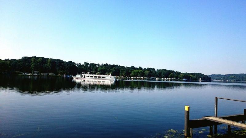 Baldeneysee Essen Essen City Nordrhein-Westfalen Nrw Germany Ausflug  Sky Water Sonntagsausflug Weisse Flotte Boattour