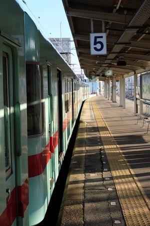 おはようございます。いい天気だ‼︎ Train Train Station Nishitetsu Fukuoka Japan Nippon Sky Green Taking Photos Enjoying Life Relaxing Taking Photos Fujifilm_xseries Fujifilm X-E2 EyeEm Gallery EyeEm