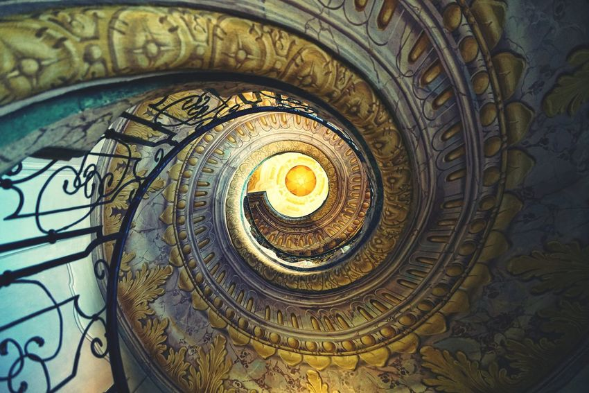 Austria Photos Spiral Staircase Looking Up Taking Photos Stairways Architecture Historic Site Light And Shadow Interior Design Travel Cathedral Melk Stift Abbey Streamzoofamily The Architect - 2016 EyeEm Awards