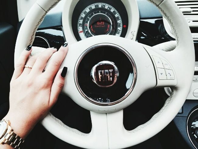 Fiat500 Nails MyCar Mybaby Bnw_friday_eyemechallange Love ♥ Nailart  Nailpolish Fiat500c Fiat 500