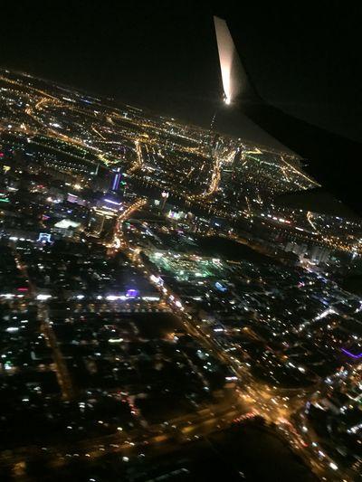 Dubai at night Aerial View Illuminated Cityscape First Eyeem Photo