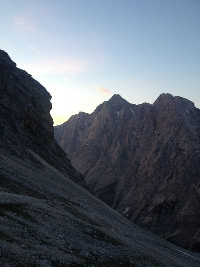 Sunrise in the Alpes.