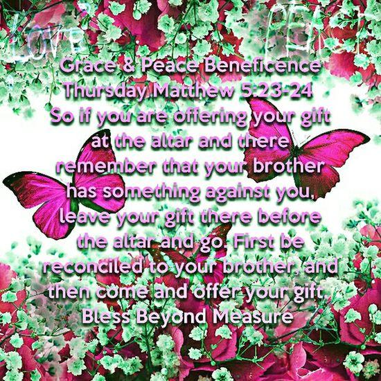 Grace & Peace Beneficence Thursday