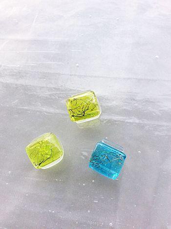 帯留 Gold Leaf Traditional Craft Japanese Traditional Kyoto Japan Glass Obidome Sash Clip Handmade
