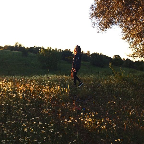 The amazing park near my home🏡🍃 Rome Nature Walking Sunset Happygirl