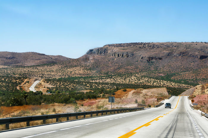 Road to Zacatecas Highway Journey Mexico Mountain Mountain Range Physical Geography Road Roadtrip