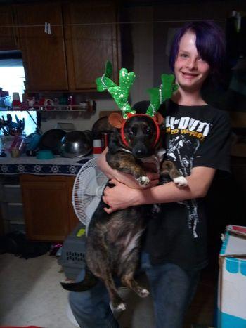 Joy Sitting Mid Adult Pet Owner