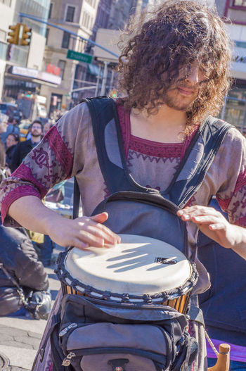 Musical Instrument Music One Person Street Hairstyle Musician City Curly Hair My Best Photo