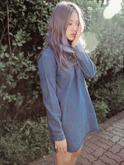 Korea South Korea Korean Model Korwan Girl Cute Girl Purple 🌈🌙