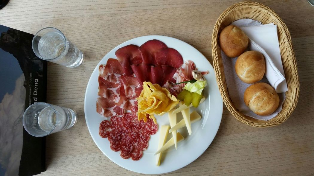 Alpine lunch assortment Switzerland Cheese Presentation Slow Food Food Stories Food And Drink Freshness Food High Angle View Plate Directly Above Ready-to-eat