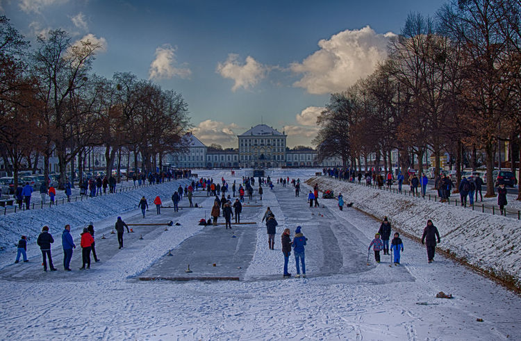 Bavarian Curling Bavarian Tradition Cold Temperature Eisstock Fun HDR High Dynamic Range High Dynamic Range Imaging Ice Ice Stock Ice Stock Sport Landscape Large Group Of People Nymphenburg Nymphenburg Palace Nymphenburger Kanal Outdoors People People Having Fun Snow Snow ❄ Stockschießen Winter Winter Winter Sport Shades Of Winter Adventures In The City