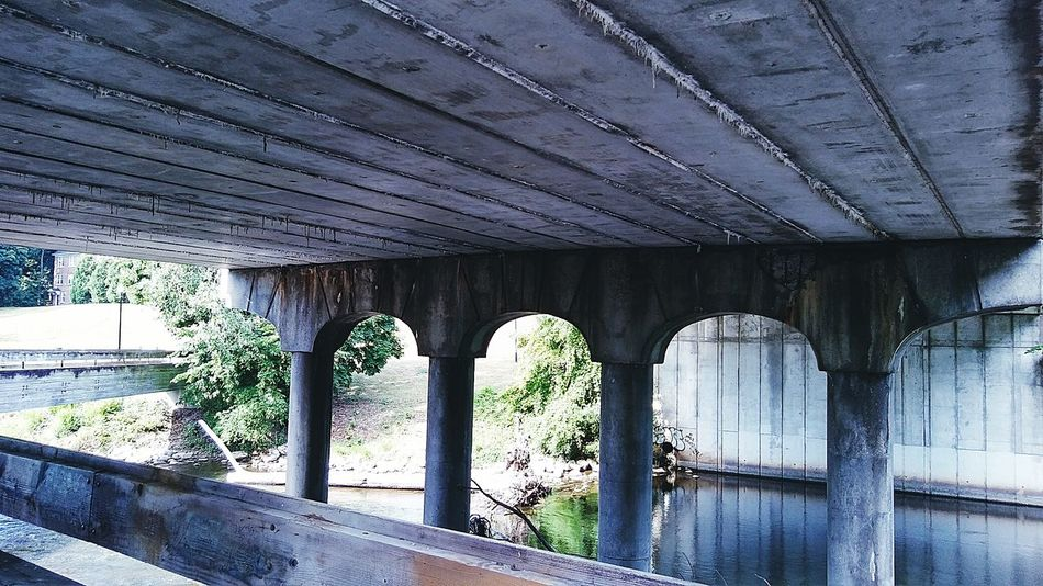 Bridge Ypsilanti Michigan Huron River Nature Flowing Water